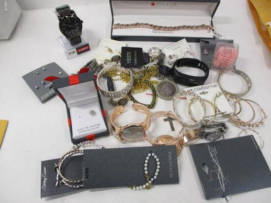 Assorted Costume Jewelry & Watches