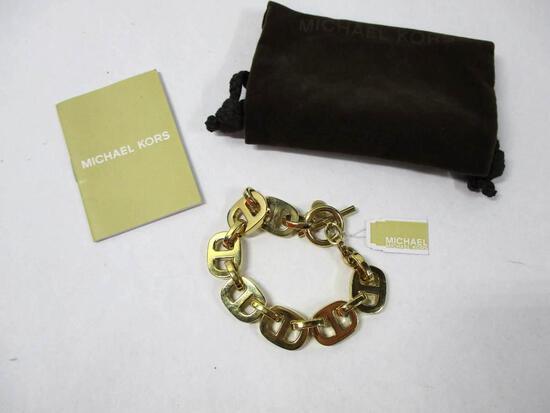 Michael Kors Gold Link Bracelet and Bag