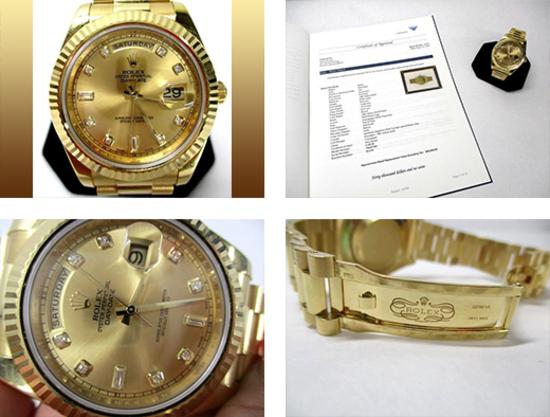 Men's 18k Yellow Gold Day-Date Rolex Watch