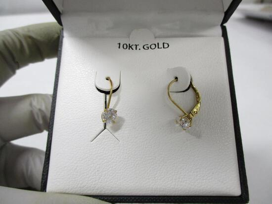 10k YG & Swarovski Drop Earrings