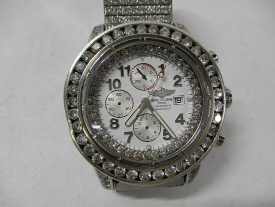 Breitling Super Avenger Men's Diamond Encrusted Watch