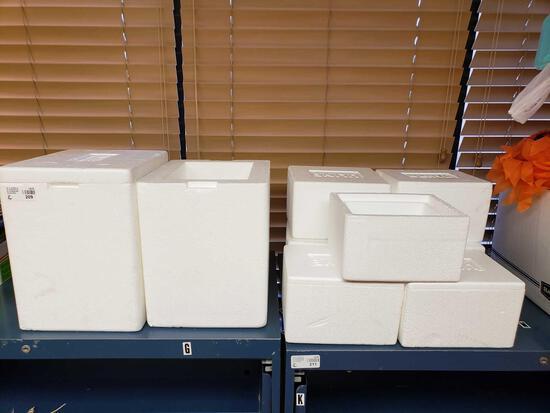 U-line Styrofoam Cooler Boxes
