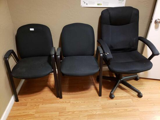 Waiting Room Chairs and Rolling Desk Chair
