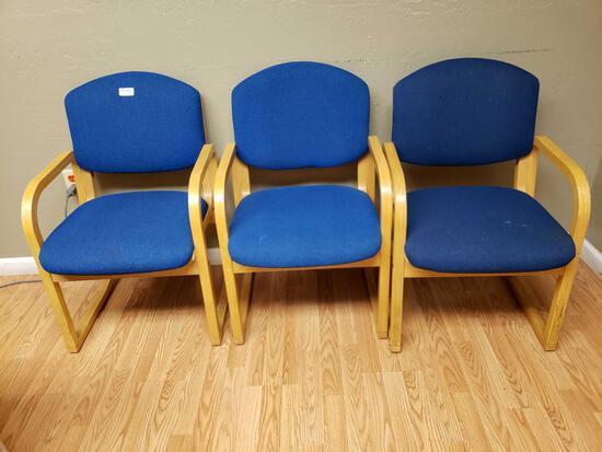 Cloth Wood Arm Chairs