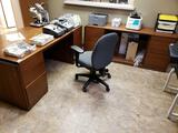 Wood Office Desks and Rolling Office Chair