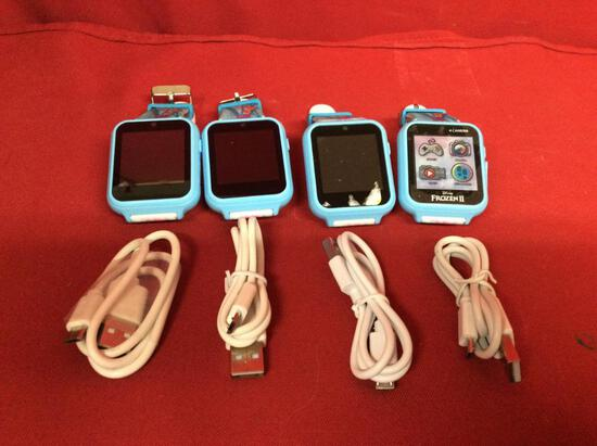 (4 qty) Interactive watch (kids smartwatch) (Frozen) (girls) with charging usb cables