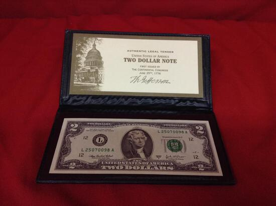 """(1 qty) World reserve exchange """"two dollar bill"""" (2003 series)"""