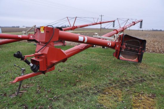 "Farm King 10""x 62' hyd. swing away auger w/ hyd. lift"