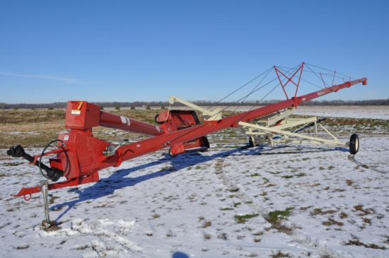 """Buhler 1080 10"""" x 80' swing-away auger"""