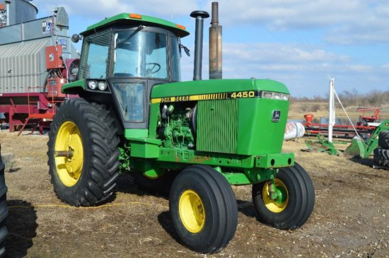 86 JD 4450 2WD tractor