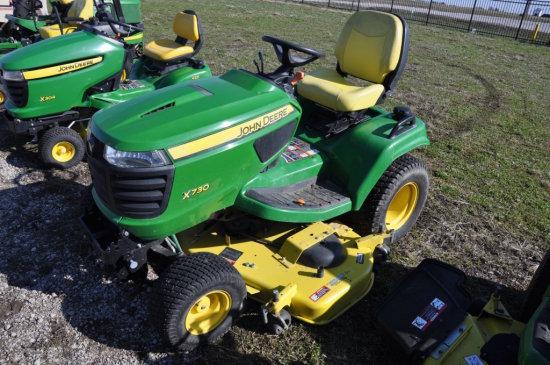 JD X730 riding mower