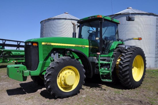 99 JD 8100 MFWD Tractor