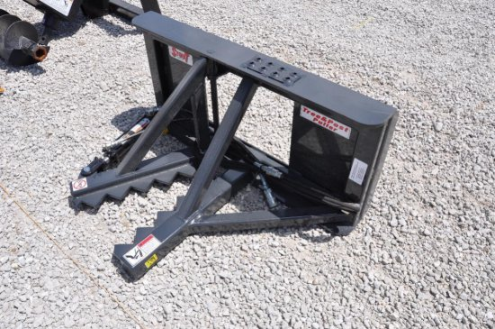 Stout tree & post puller skid loader attachment