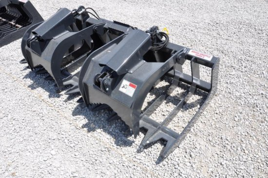 Stout XHD84-6 hyd. brush grapple for skid loader
