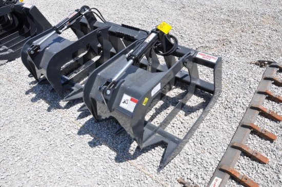 Stout HD72-8 hyd. brush grapple for skid loader