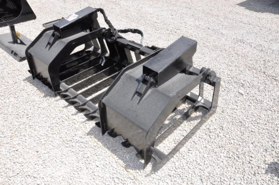 """Hawz 80"""" hyd. root grapple skid loader attachment"""