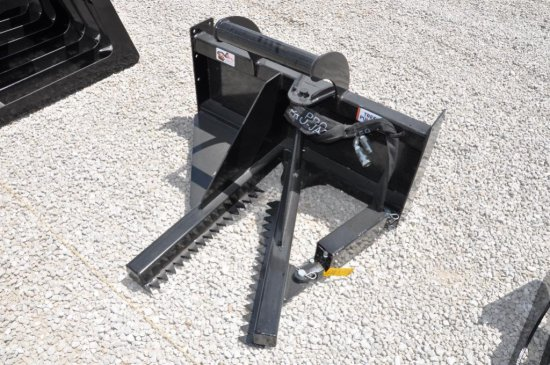 Hawz tree puller skid loader attachment