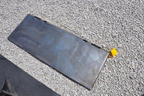Hawz blank skid loader attachment plate