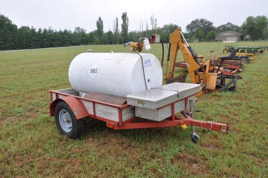 300 gal. fuel barrel on trailer