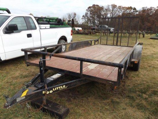 '03 Doolittle 16' bumper hitch trailer