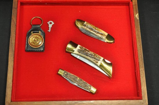 (3) Piece Browning Centennial Pocket Knife Set