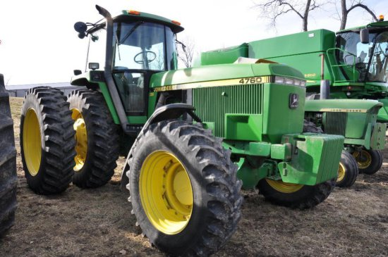'93 JD 4760 MFWD tractor