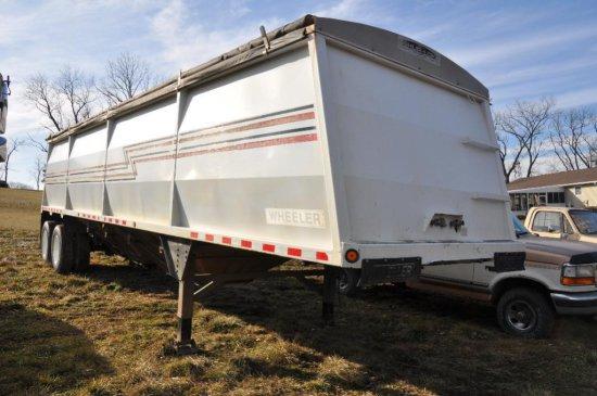'00 Wheeler 34' steel hopper bottom grain trailer