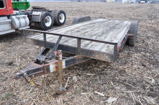 20' bumper hitch flatbed trailer