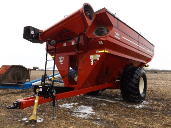 '10 J&M 1000-20 GrainStorm grain cart