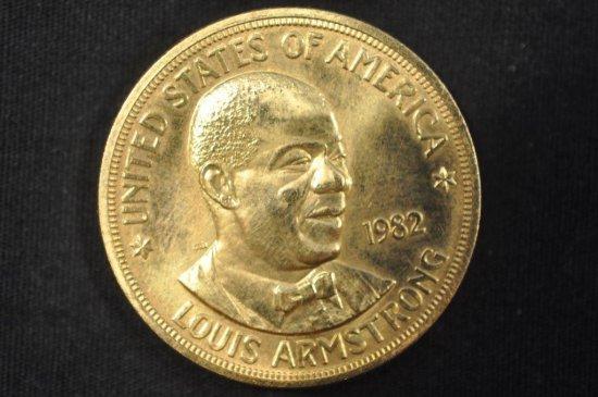 1982 Louis Armstong 1 Ounce Gold Coin
