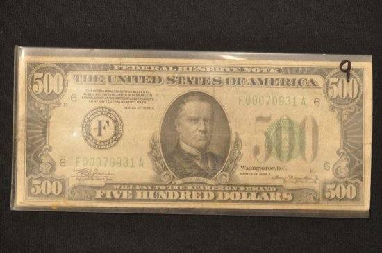 Series of 1934A $500 Bill