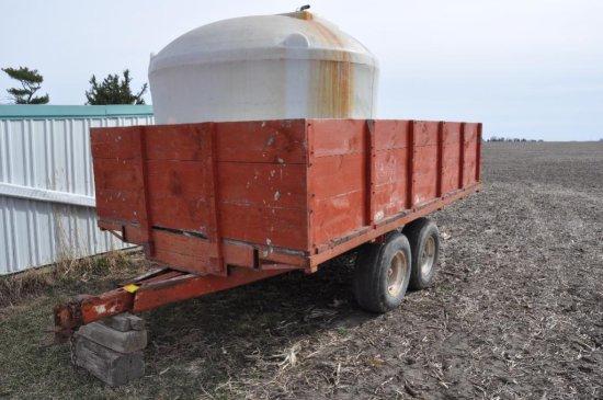 Shop built tandem axle trailer