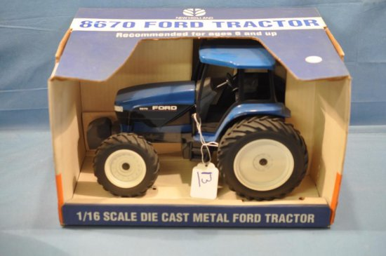 SCALE MODELS 1/16TH SCALE FORD 8670 TRACTOR