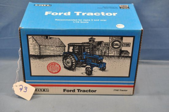 ERTL 1/16TH SCALE FORD 7740 TRACTOR, 1992 COLLECTOR