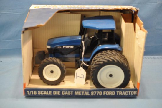 SPEC CAST 1/16TH SCALE FORD 8770 TRACTOR, ROUGH BOX