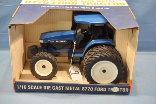 SPEC CAST 1/16TH SCALE FORD 8770 TRACTOR, GOOD BOX