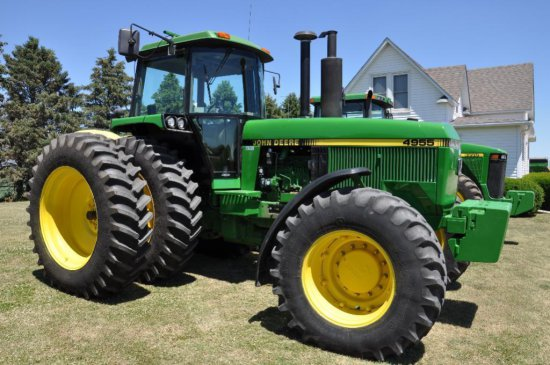 '89 JD 4955 MFWD tractor