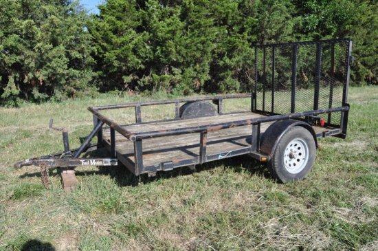 Trail Master 10'x6' bumper hitch flatbed trailer
