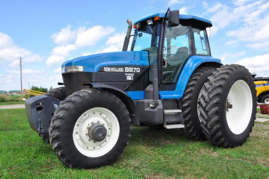 '97 New Holland 8870 MFWD tractor
