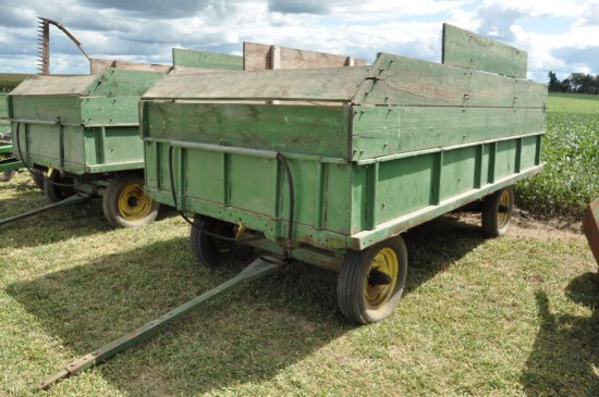 JD barge wagon on JD running gear