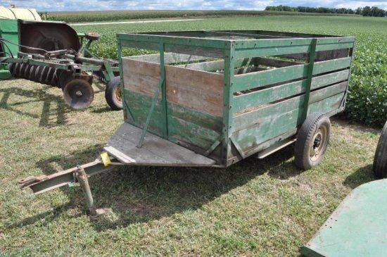 9' wooden farm livestock trailer