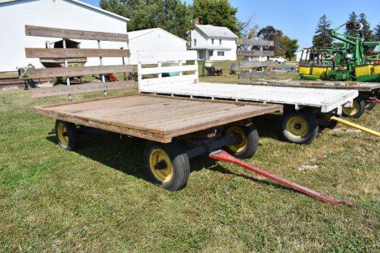 Wooden hay rack wagon
