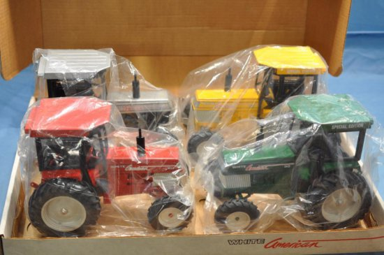 Scale Models 1/16 Scale Set of 4 White American 80 Tractors