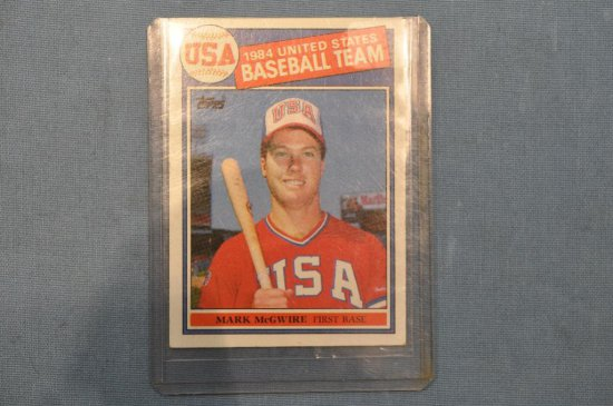 1985 Topps Mark Mcgwire Rookie Card Art Antiques