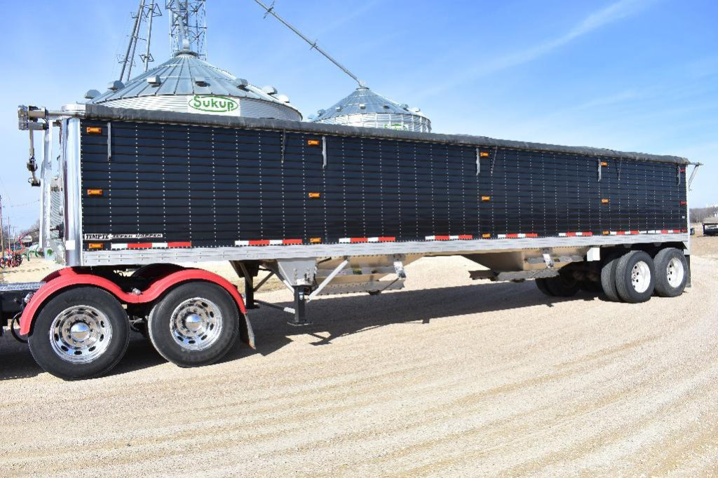 '14 Timpte Super Hopper 40' aluminum hopper bottom grain trailer