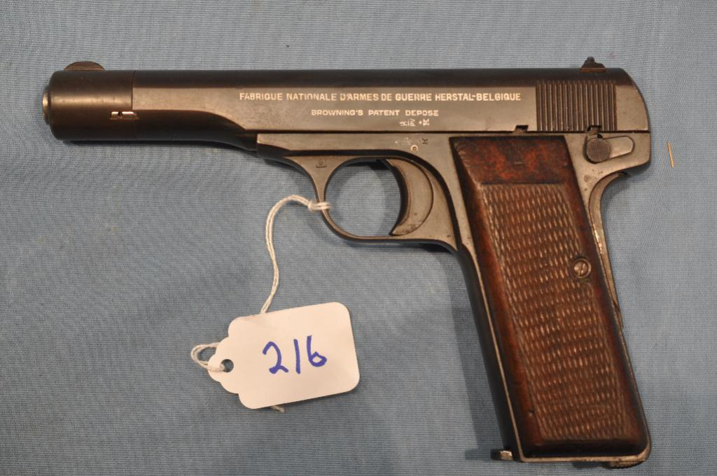 Lot: Fabrique Nationale 7mm semi auto pistol | Proxibid Auctions