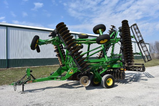 "'13 JD 2623VT 29'3"" vertical tillage tool"