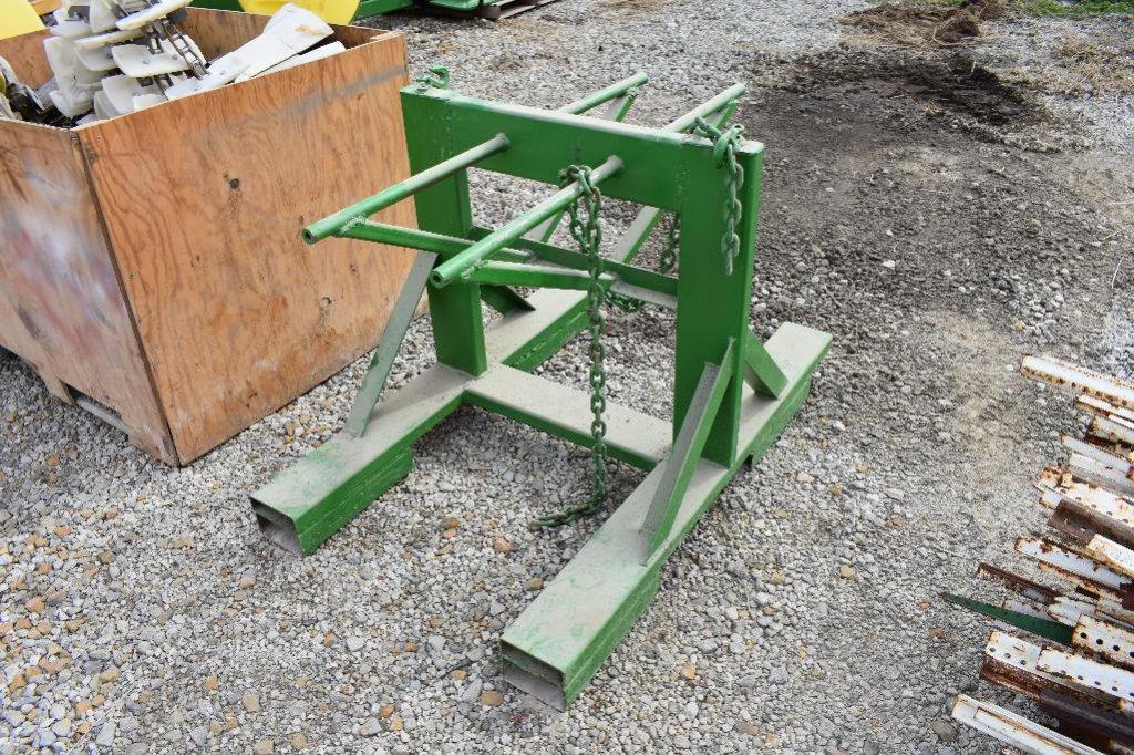 Shop built rear wheel weight holder