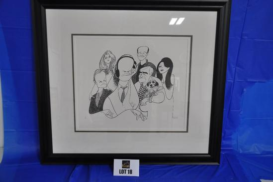 """15"""" x 18"""" Caricature drawing of main actors and actresses from """"Frasier"""""""
