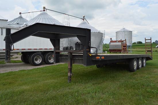 Shop Built 24' triple axle gooseneck trailer